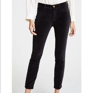 Frame Denim Black Le Velvet Straight Leg Jeans NWT